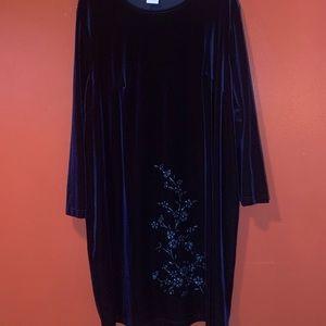 Velvet sparkly shift dress